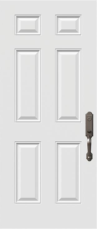 6 panel steel door slab