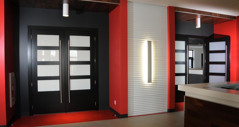 Milette 804H 4 Lite White Laminate Glass French Interior Doors