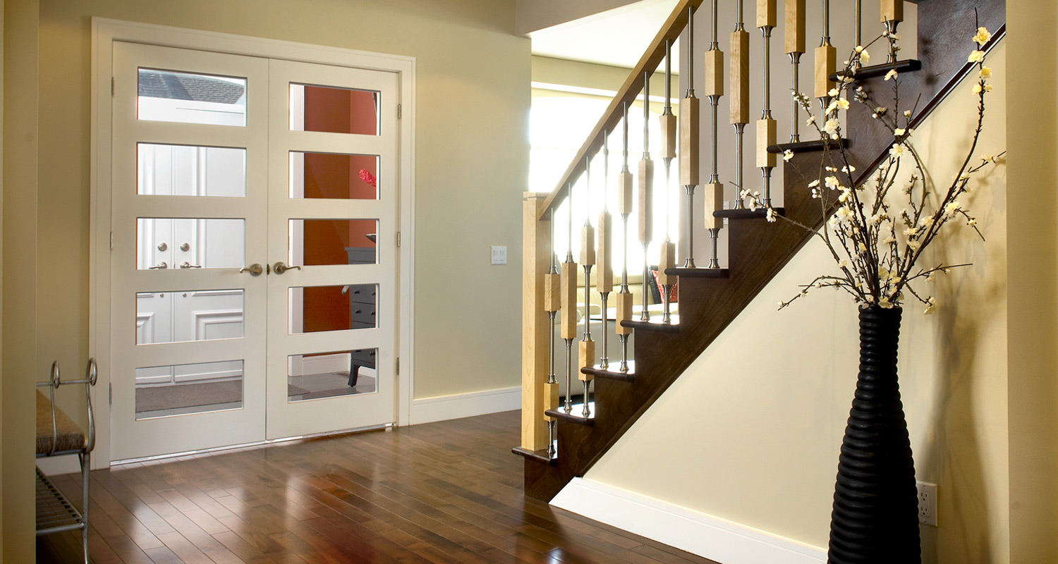 Milette 805H 5 Lite Clear Glass French Interior Doors