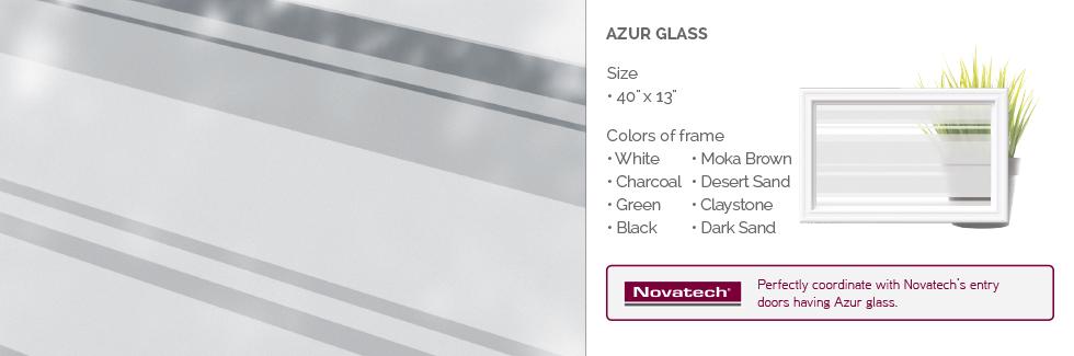 Azur Glass for Garaga garage door windows