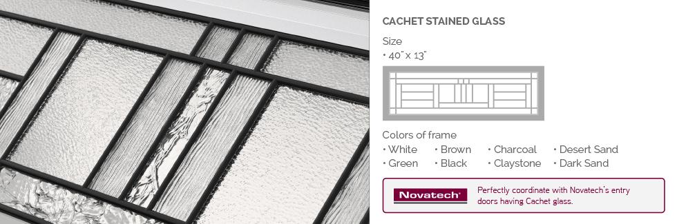 Cachet Stained Glass for Garaga garage door windows