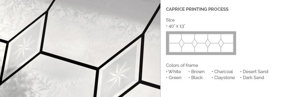 Caprice Printing Process Glass for Garaga garage door windows