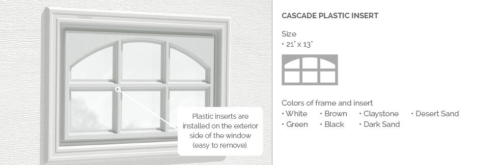 Cascade Plastic Garage Door Glass Insert
