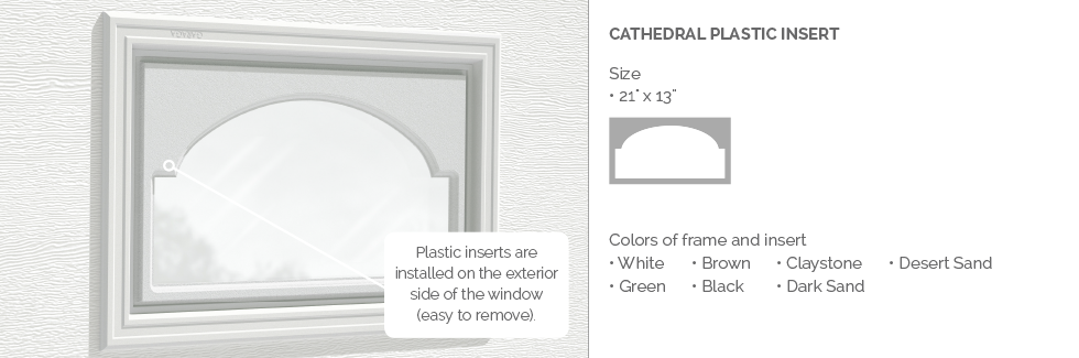 Cathedral Plastic Garage Door Glass Insert