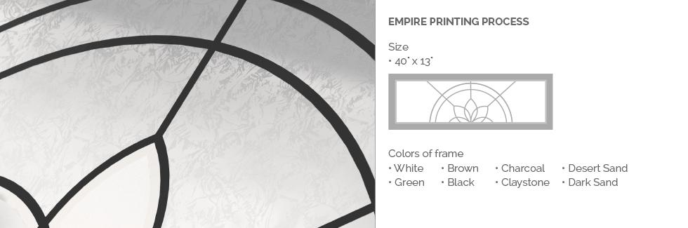 Empire Printing Process Glass for Garaga garage door windows