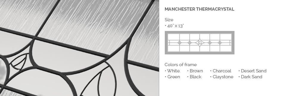 Manchester Therma Crystal Glass for Garaga garage door windows