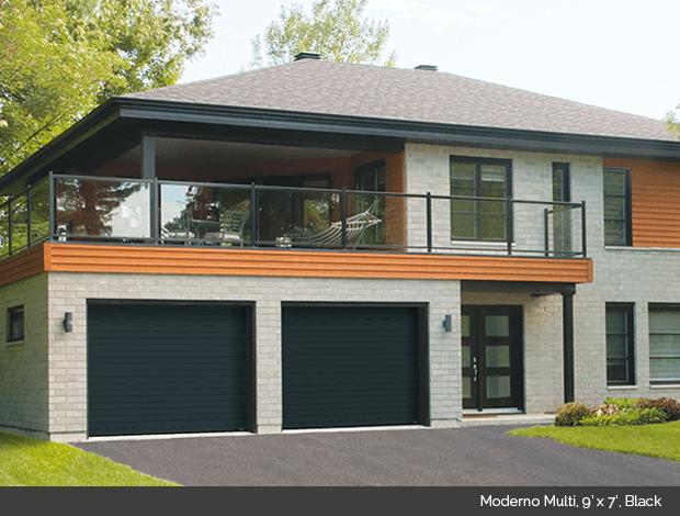 Moderno Multi Garaga garage door in Black