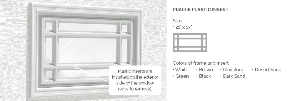 Prairie Plastic Garage Door Glass Insert