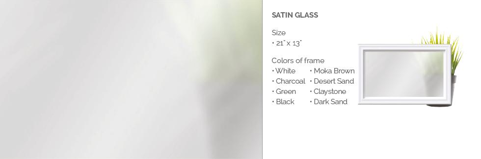 Satin glass for Garaga garage door windows