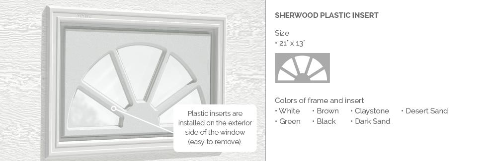 Sherwood Plastic Garage Door Glass Insert