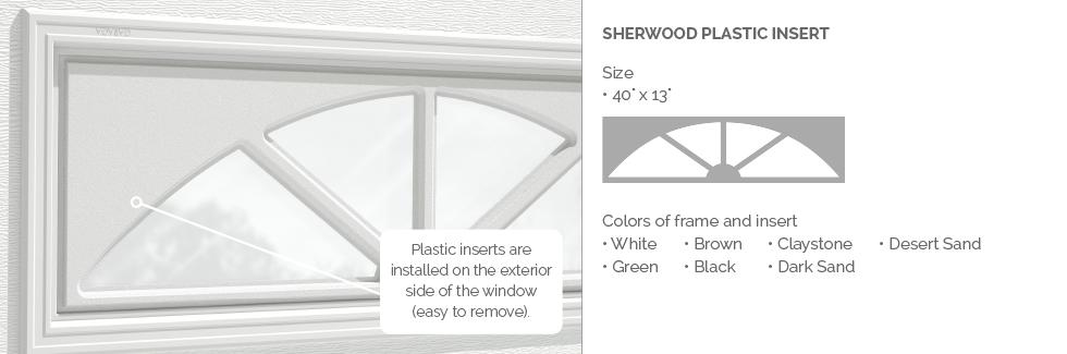Sherwood Plastic Insert for Garaga garage door windows