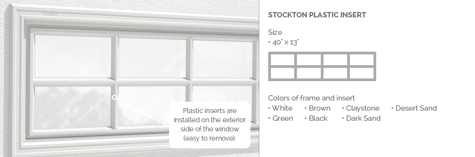 Stockton Plastic Garage Door Glass Insert