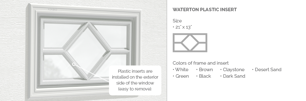 Waterton Plastic Garage Door Glass Insert