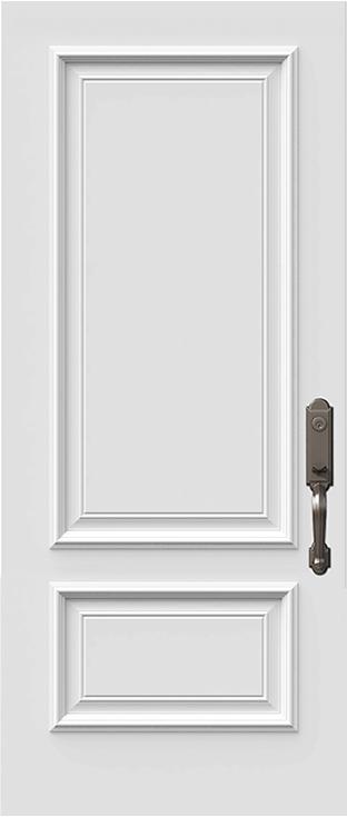 orleans steel door slab with prestige mouldings