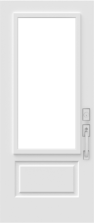 soho exterior steel door slab cutout for glass