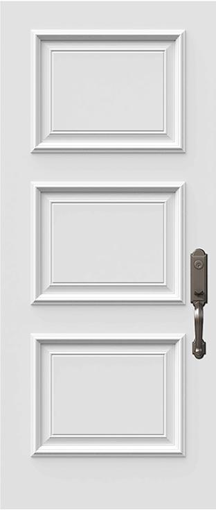 sydney 3 panel steel door slab with prestige moulding
