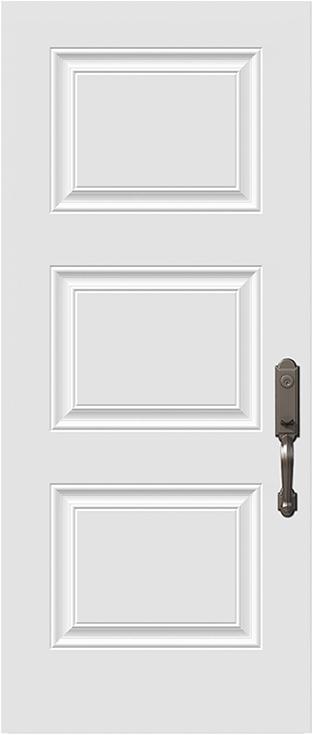 sydney 3 panel steel door slab