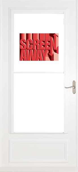 Larson 830-82 Screen Away Door with Brush Nickel Handle