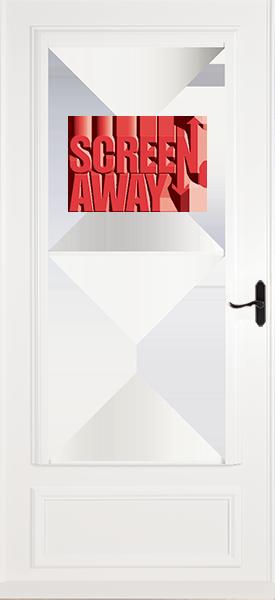 Larson 830-85 Screen Away Door with Aged Bronze Handle