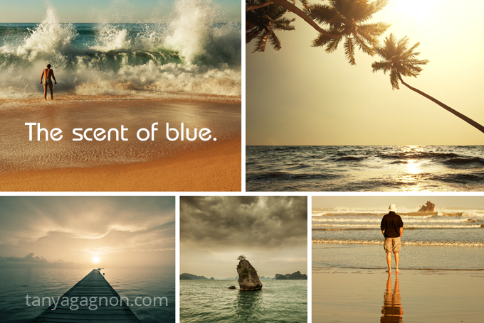 scent of blue sensory associations