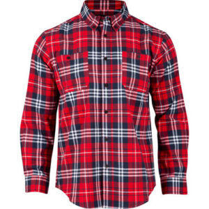 Rocky Worksmart Button Down Work Shirt Red Plaid