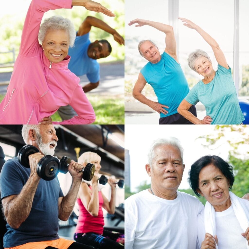 Exercises by older people