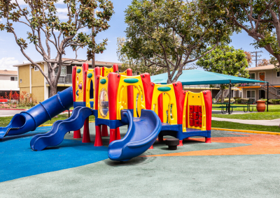 Playground with Colorful slides