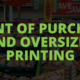 POINT OF PURCHASE AND OVERSIZED PRINTING - PEL HUGHES