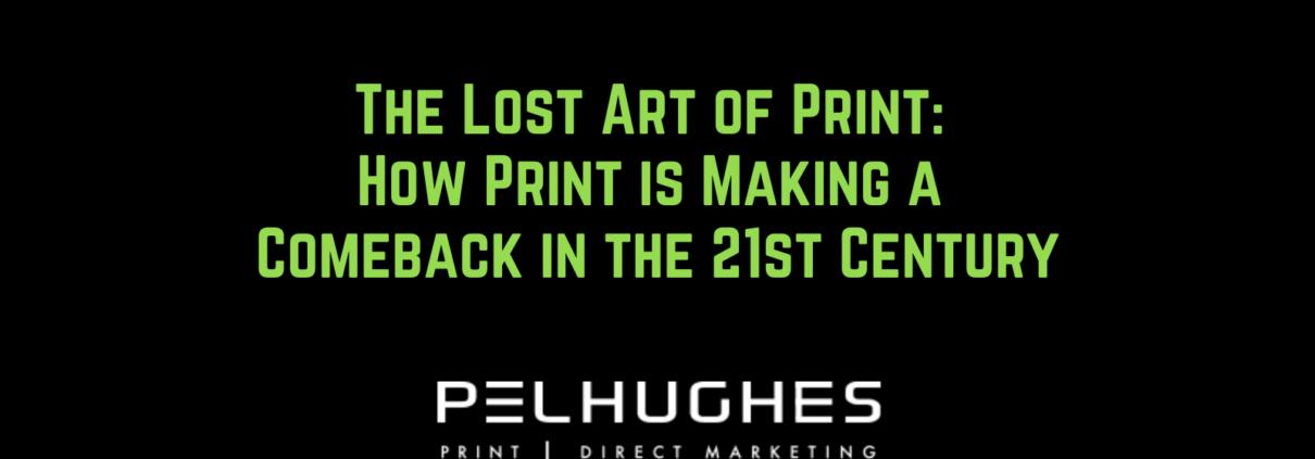 The Lost Art of Print - pel hughes print marketing new orleans la