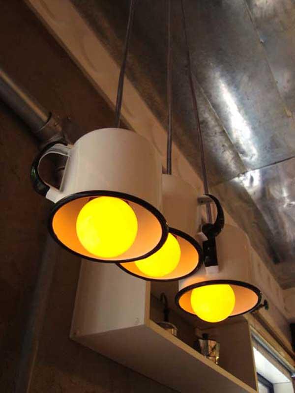 DECORAÇÃO DE CASA - luminária de caneca