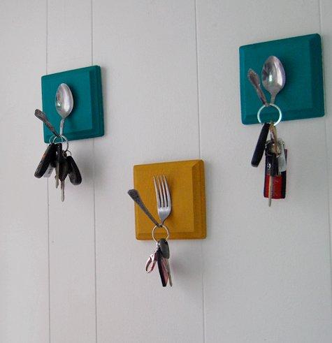 DECORAÇÃO DE CASA - porta chaves de talher