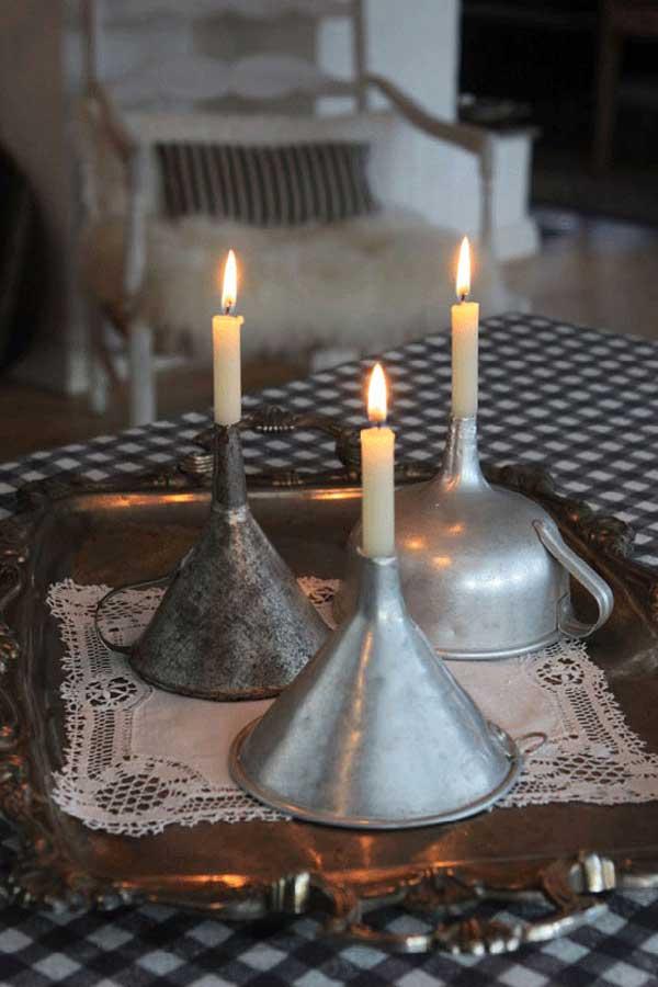 DECORAÇÃO DE CASA - velas funil