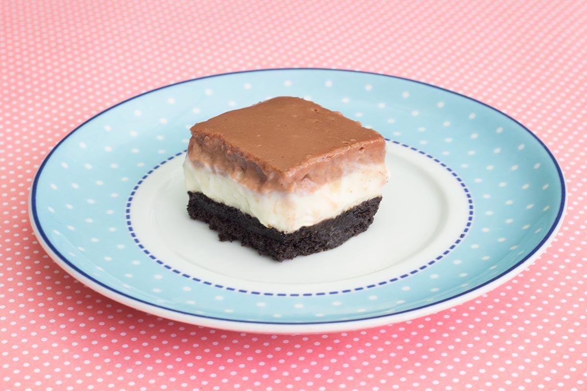 Foto da Barrinha de Cheesecake, Nutella e Biscoito.