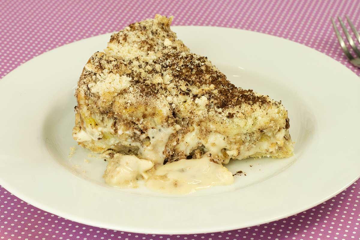 Torta Farofa de Banana com Creme de Leite Condensado