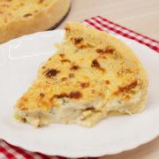 quiche de cebola e queijos