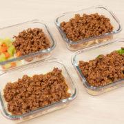 4 marmitas com carne moída