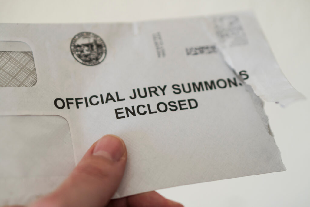 Picture of jury summons envelope