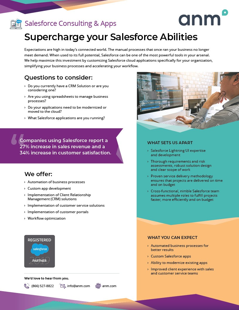 ANM Salesforce Consulting and Apps data sheet first page