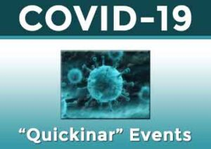 COVID-19 quick webinar events graphic
