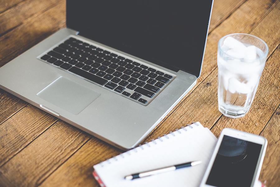 laptop at desk