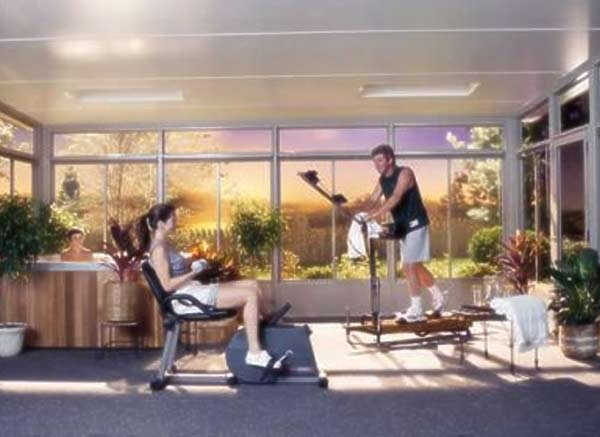 exercise room sunroom
