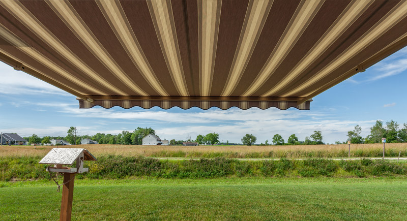 motorized retractable awning