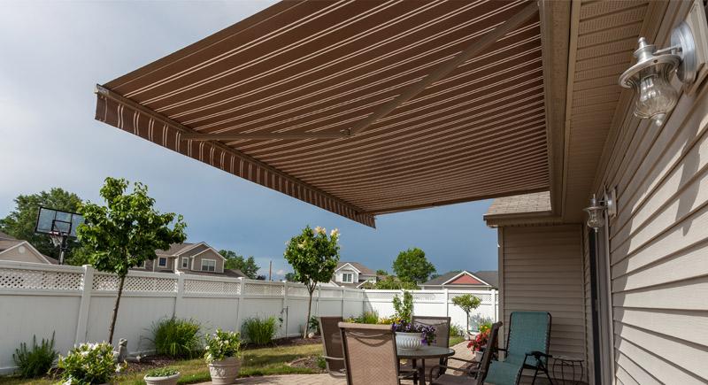 motorized shade awning