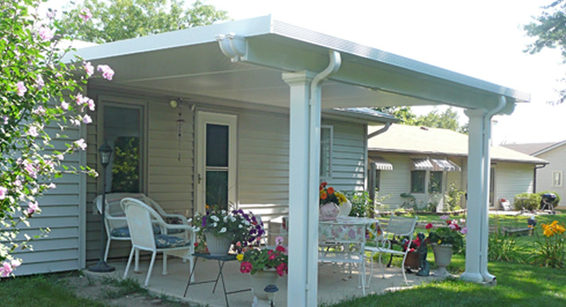 traditional patio cover