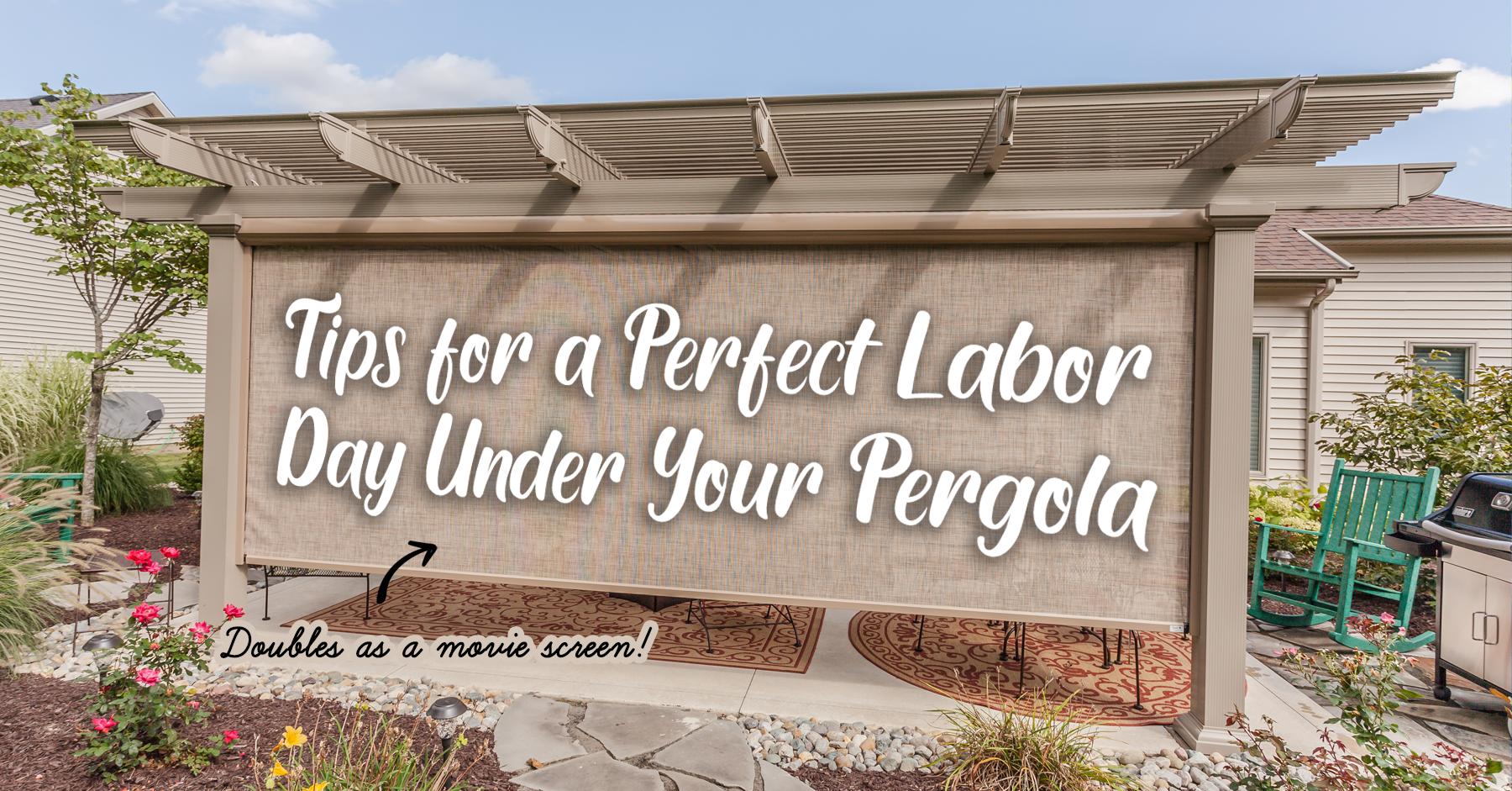 perfect labor day under pergola