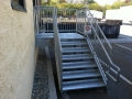 Commercial galvanized stairway