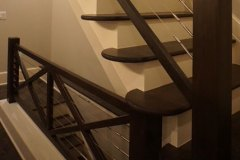 German Village Wood/Cablewire Staircase-Job