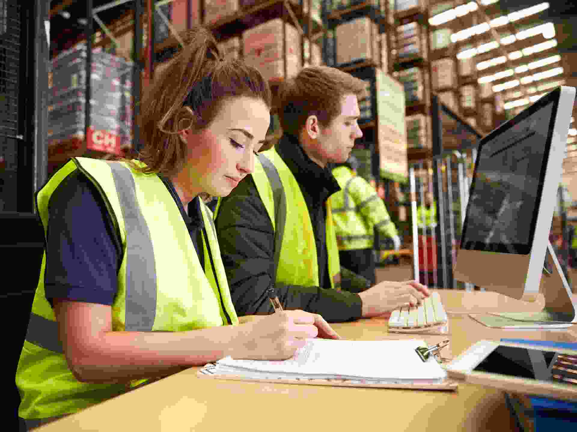 Staff Managing Warehouse