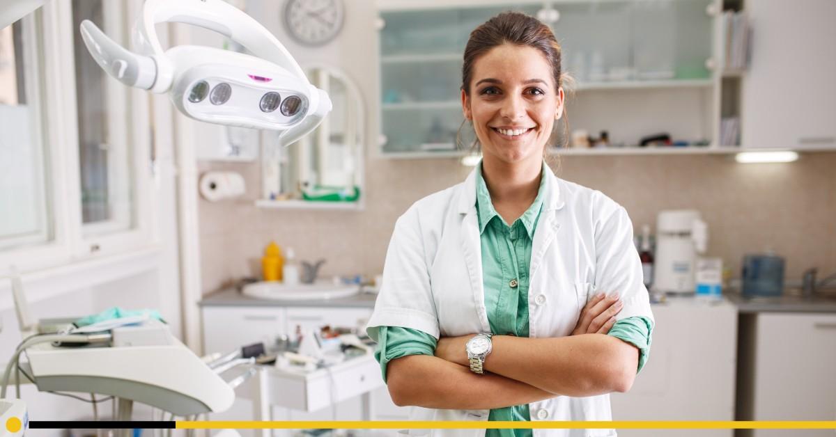 female dentist owner