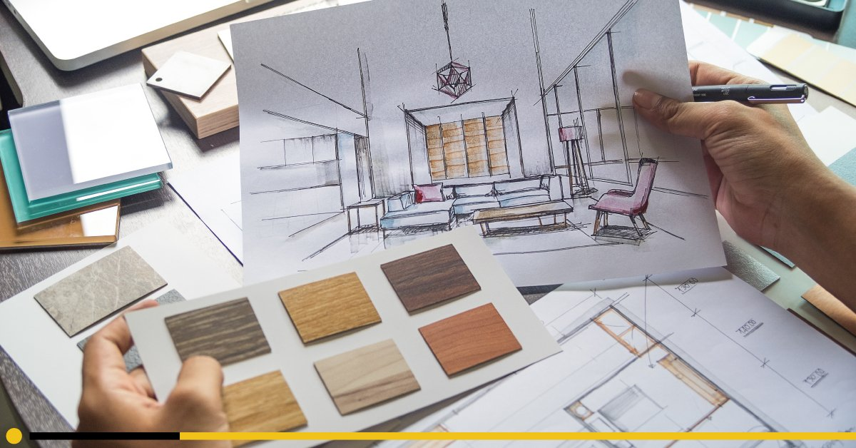 looking over design sketches